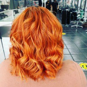 Orange Hair Colour Trend, Queensferry hair colour salon